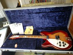 1991 Rickenbacker 360 v64 Fireglo: Left-Handed, 6-String, Elec. Guitar w/OHSC #Rickenbacker