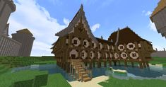 Fantasy Minecraft lake house by Ptolamy Minecraft designs Minecraft architecture Minecraft