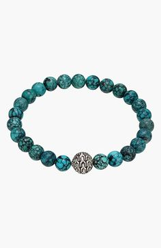 John Hardy 'Palu' Turquoise Beaded Bracelet available at #Nordstrom