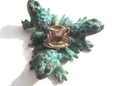 Vintage Coffee Cup and Saucer Hatpin Tea Lover by BetterWythAge