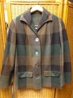Vintage 49er Plaid Western wool coat jacket by Simplemiles on Etsy, $44.00