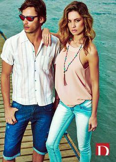 Destroy Jeans | Summer 2015 | Verão 2015 | camisa masculina; bermuda jeans masculina; regata feminina; calça jeans feminina; jeanswear.