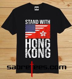 About Stand With Hong Kong American Flag T-shirt, This t-shirt is Made To Order, one by one printed so we can control the quality. We use DTG technology to print. Army Green Bomber Jacket, Direct To Garment Printer, American Flag, Hong Kong, Guangzhou, Mens Tops, T Shirt, Stuff To Buy, Clothing