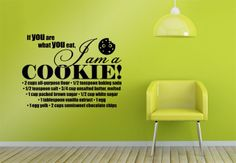 Wall-Stickers - If you are what you eat...