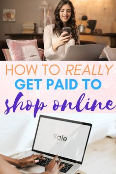 You hear it all the time. Get paid to shop! Is it true? YES! Want to know how to really get paid to shop online? Then keep reading... #shopping #shop #onlineshopping #shoppingonline #rebates