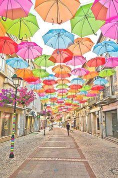 Calle en Agueda, Portugal