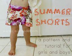 Summer Shorts {a pattern and tutorial for girls and boys}