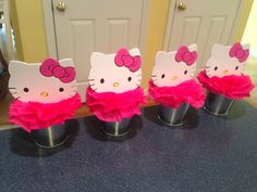 Easy Diy Hello Kitty Centerpieces Birthday Hello Kitty