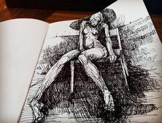 Chair. Morning #coffee and #ink #drawing #sketchbook #doodlersanonymous #figuredrawing #twitter #daily_art #sketchoftheday #sketchdaily #partsofdrawings #WIP #photooftheday #follow #redditartistnetwork #contemporaryart #newcontemporary #bayareaart
