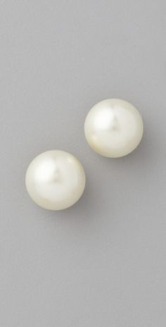 chunky Pearl Post Earrings, I have the perfect pair, perfect size for my big ears that I found at old navy!  I bought two pair as I wear them alot and the cheapys usually wont have lasting power.  Would love to find a genuine pair just like these as they are a classic, a staple