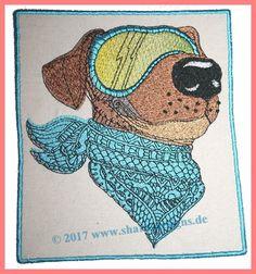 Moto-Dog #hund #dog #stickdatei #embroidery