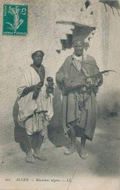 Algerian Gnawa troubadour.
