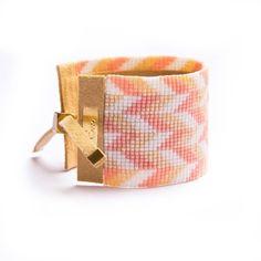 Bracelet de perle métier à tisser de manchette avec par BijouByEva