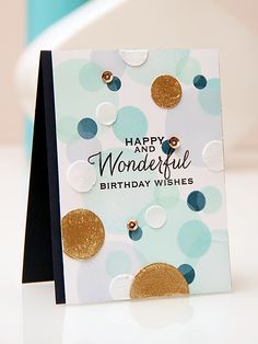 Yana Smakula | A Bokeh background card using stamps from Hero Arts and inks from ClearSnap...ganz mein Geschmack!