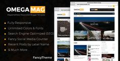 OmegaMag - Magazine Responsive Blogger Template