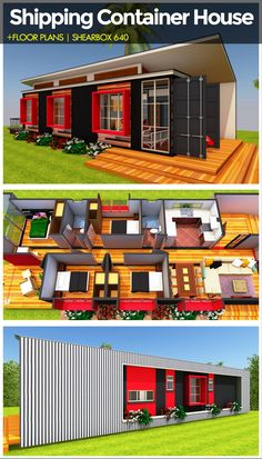 Thisis a 4 bedroom shipping container house designed using two 40 foot shipping container to create &; Thisis a 4 bedroom shipping container house designed using two 40 foot shipping container to create &; S H E […] Homes For Families shipping containers Building A Container Home, Container Buildings, Container Architecture, 40ft Container, Container Cabin, Shipping Container Home Designs, Shipping Containers, Casas Containers, Tiny House Plans