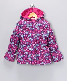 Take a look at this Pink Platinum Purple Puffer Jacket -Toddler & Girls by Blow-Out on #zulily today! #zulily and #fall