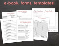 Get Organized FOR PHOTOGRAPHERS Photography Business Forms, E-book and Templates Contract with Model Release Product Catalog Template Tax Accounting Forms Order Form Pricing