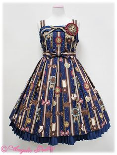 Chocolate Rosette (navy), Angelic Pretty  I'd love this in any of the colorways!