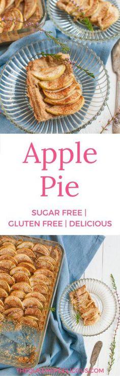 Sokeriton ja gluteeniton omenapiirakka - The Queen of Delicious Gluten Free Apple Pie, Gluten Free Vegetarian Recipes, Gluten Free Treats, Easy Baking Recipes, Gf Recipes, Healthy Baking, Healthy Foods, Diet Cake, Sugar Free Baking