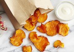 Sweet Potato Chips with Honey Yogurt Dipping Sauce