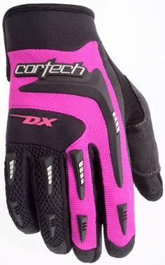 Tourmaster Cortech DX 2 Womens Motorcycle Gloves Black/Pink Medium M 8313-0108-75 $23.39