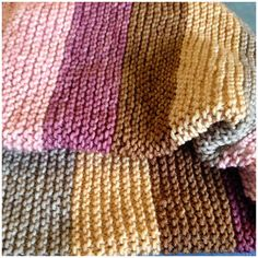 Altadena's baby designs: ✿ New baby blanket ✿ . ♥ with my own colors ♥ Dyeing Yarn, Loom Knitting, Baby Design, New Baby Products, Free Pattern, Blankets, Sewing, Crochet, Colors