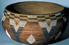 yuki (wappo) ceremonial basket