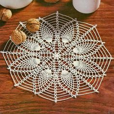 Beautiful Simple Pineapple Crochet Lace Doily
