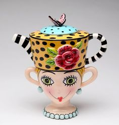 Appletree Design Lady Lux Tea for One Set, Teapot Rests on Top of Tea Cup, ** For more information, visit image link. Tea For One, My Tea, Teapots Unique, Teapots And Cups, Floral Theme, Ceramic Teapots, Chocolate Pots, Tree Designs, Mugs