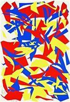 Rot gelb blau by Imi Knoebel