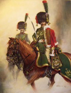 Vieux sabre, honneur du Capitaine – Grande Tenue sur sellerie pour service de route Capitano anziano dei Cacciatori a Cavallo della Guardia Imperiale, alta tenuta 1804 – 1808.