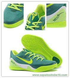 "tenis barato de marca Masculino 653972-621 ""Verde"" Verde Nike Kobe 9 Low EM"