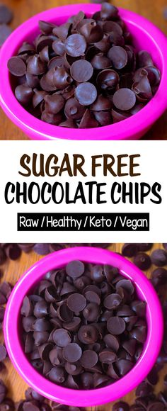 How to make easy keto chocolate chips for baking cookies or eating plain for dessert. They can be vegan, egg free, dairy free, and healthy #recipe #keto #chocolate #ketorecipe #ketodessert #cookies #chocolatechip #sugarfree #dairyfree Homemade Chocolate Chips, Sugar Free Chocolate Chips, Chocolate Chip Recipes, Healthy Chocolate, Baking Chocolate, Stevia Chocolate Chips Recipe, Choco Chocolate, Chocolate Milkshake, Vegan Keto