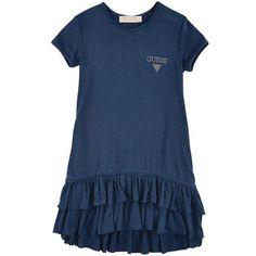 Guess - Stretch light viscose jersey dress - Navy blue - 101515