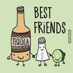 ok, which one of us is the tequila, salt and lime? @Megan Hammond and @Dierdra Hunter ??