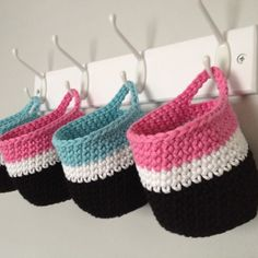 PATTERN: Crochet Handy Hanging Baskets PDF - US Terms - UK terms also available £1.20