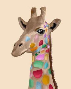 B/éb/é girafe zoo animaux enfants mignon T-Shirt