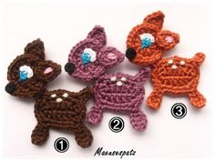 Rehlein Wunschfarbe, INSPIRATION, I don't think there is a pattern, but soooo cute!