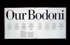 1980s Bodoni Massimo Vignelli