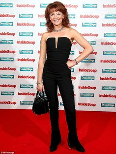 A tasselled affair: Show new-comer Bonnie Langford cut a chic figure in a strapless jumpsu. Bonnie Langford, Inside Soap, Soap Awards, Latex Dress, English Actresses, Affair, Strapless Dress Formal, Theatre, Fashion Inspiration
