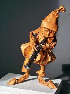 origami clarinet player