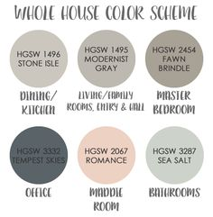 Color Scheme Sea Salt Walls Tempest Skies Accent For Furniture Romance Accessories Rhonda Stephens Paint Whole House