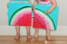 See how great the new line of Deco Art Americana Premium Paints blend together to create a beautiful watermelon canvas art this summer! Kids Canvas Art, Small Canvas Paintings, Simple Acrylic Paintings, Large Canvas Art, Easy Paintings, Indian Paintings, Diy Canvas, Watermelon Painting, Watermelon Crafts