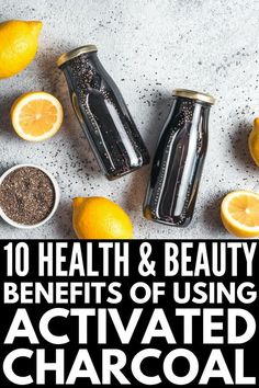 How to Use Activated Charcoal | Whether you buy it as a powder or as pills, activated charcoal has many health benefits and can be used to make natural beauty products as well. It's one of many natural remedies for stomach upset, gas and bloating, ear infections, and sore throats, helps whiten teeth, and can be used on the face as a natural acne remedy. It really works! Click for 10 activated charcoal uses! Ginger Benefits, Health Benefits, Health Tips, Junk Food, Activated Charcoal Uses, Natural Acne Remedies, Ear Infection, Home Remedies, Health Remedies