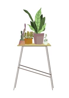 things 01 on Behance Floral Illustrations, Artsy, Behance, Chair, Table, Furniture, Home Decor, Decoration Home, Room Decor