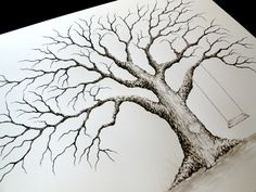 LARGE OAK Thumbprint Guest Book Tree with Swing and Heart - 24x18 Customized Giclée Print of my Original Painting. Up to 125-200 guests by LastingKeepsakes on Etsy https://www.etsy.com/listing/161881076/large-oak-thumbprint-guest-book-tree