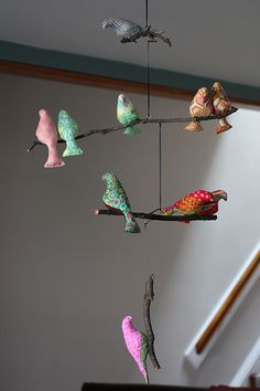 I love mobiles! i need something cute over the changing table... i need a baby distraction