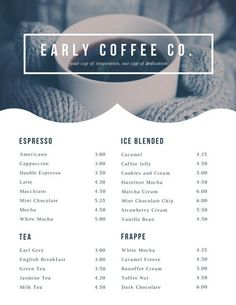 Add a creative twist to your coffee shop menus by combining Canva's ready-made templates with icons and images from our library. Drink Menu Design, Cafe Menu Design, Restaurant Menu Design, Restaurant Branding, Coffee Shop Menu, Double Espresso, Coffee Photos, Bar Menu, Breakfast Menu