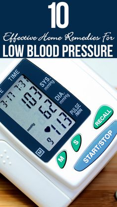 10 Effective Home Remedies For Low Blood Pressure
